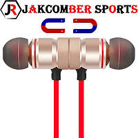 Стерео Блютуз (Bluetooth 4.1) наушник JAKCOMBER SPORTS (ЗОЛОТО) без лишних проводов с микрофоном На магнитах