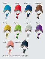 Шапка с кисточкой из свалянной шерсти Disana в разных цветах, фото 1