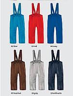 Штаны на лямках из свалянной шерсти Disana в разных цветах, фото 1