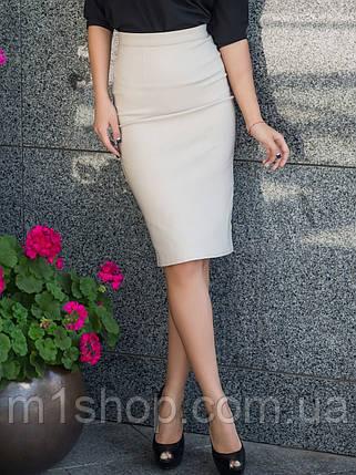 Женская коттоновая юбка карандаш (2079 sk/ist), фото 2