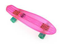 Флуоресцентный Розовый Пенни Борд 24″ с Мятными Колесами