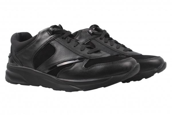 Туфлі спорт Mida натуральна шкіра, колір чорний