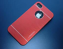 Чехол для iPhone 4 4S motomo металлический