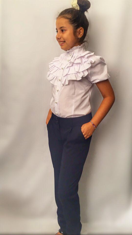 Школьные детские брюки для модницы