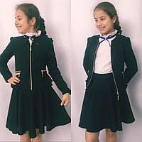 Стильный детский пиджак для девочки в школу, фото 1