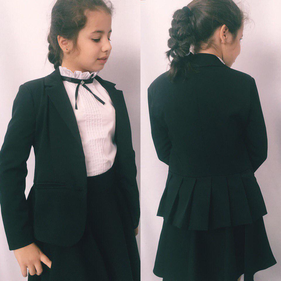 Детский стильный пиджак для девочки школа