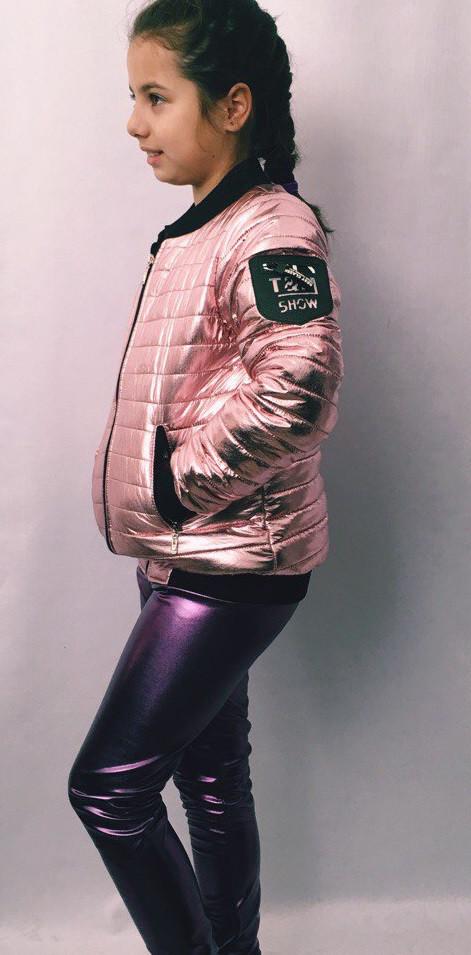 Модная детская куртка из плащёвки