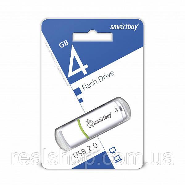 USB Flash Drive 4Gb Smartbuy Crown White