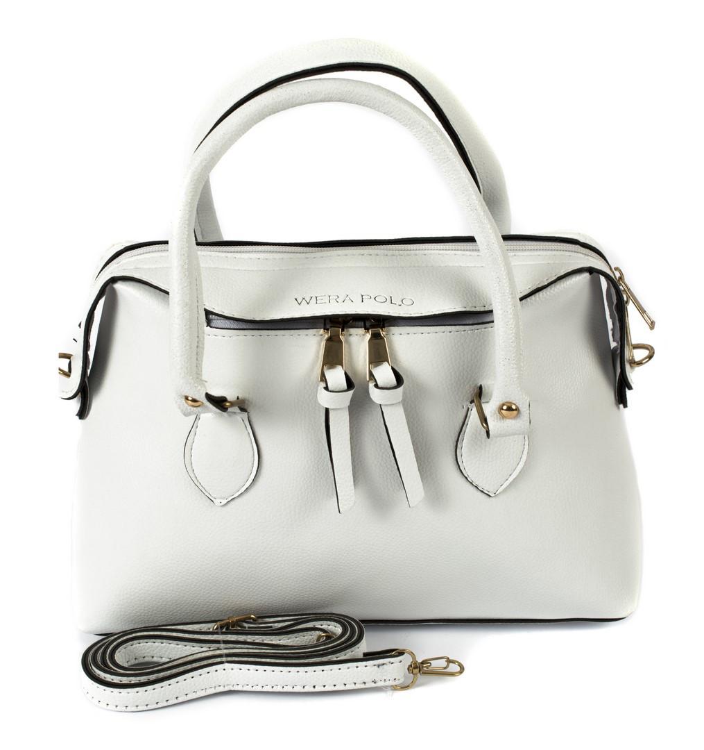 3b8150f8cb0e Купить Клатч-сумка из искусственной кожи Wera Polo 020 белая Турция ...