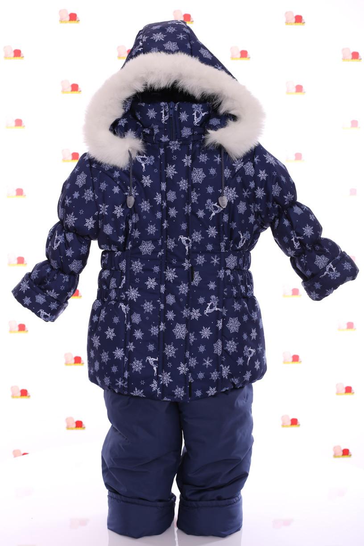 Комбинезон Классика синий со снежинками