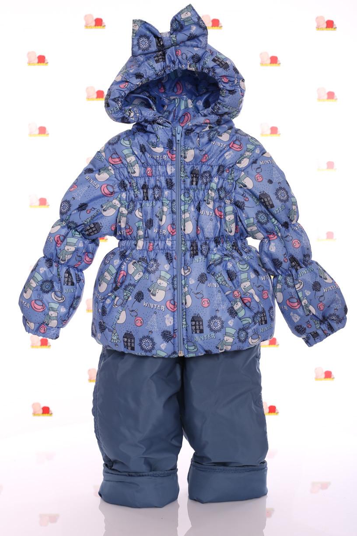 Ноль Кроха синий со снеговиком