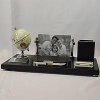 Офисный набор с фоторамкой и глобусом