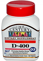 21st Century D - 400 iu (D3) 100 tabs