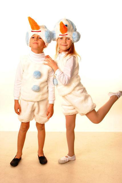 Карнавальный костюм Снеговик меховой