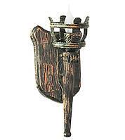 """Деревянное бра  """"Факел римский"""" состаренное темное на 1 лампу"""