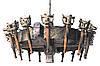 """Деревянное бра серии """"Факел римский"""" состаренное темное на 2 лампы , фото 5"""