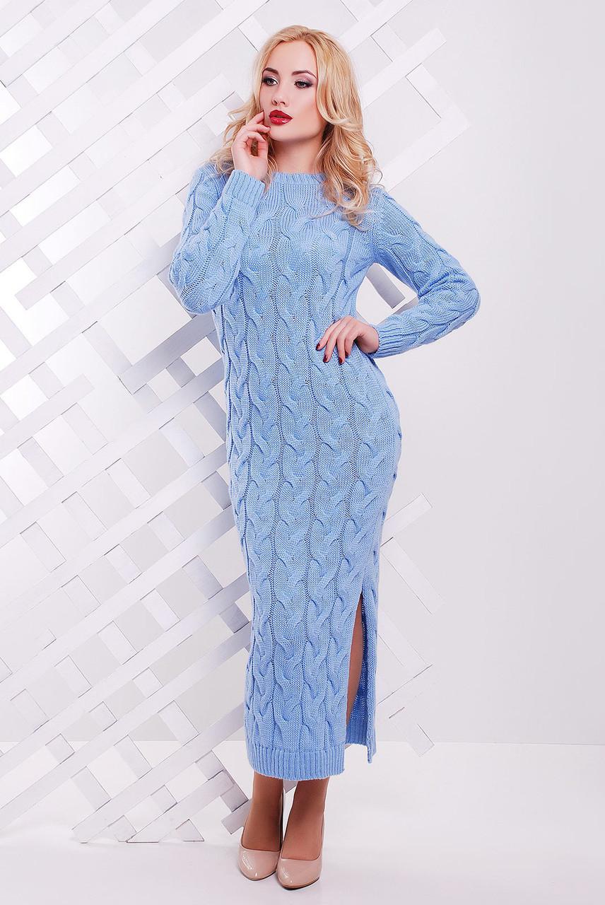 Длинное вязаное платье 15цветов! 42-48 размеры