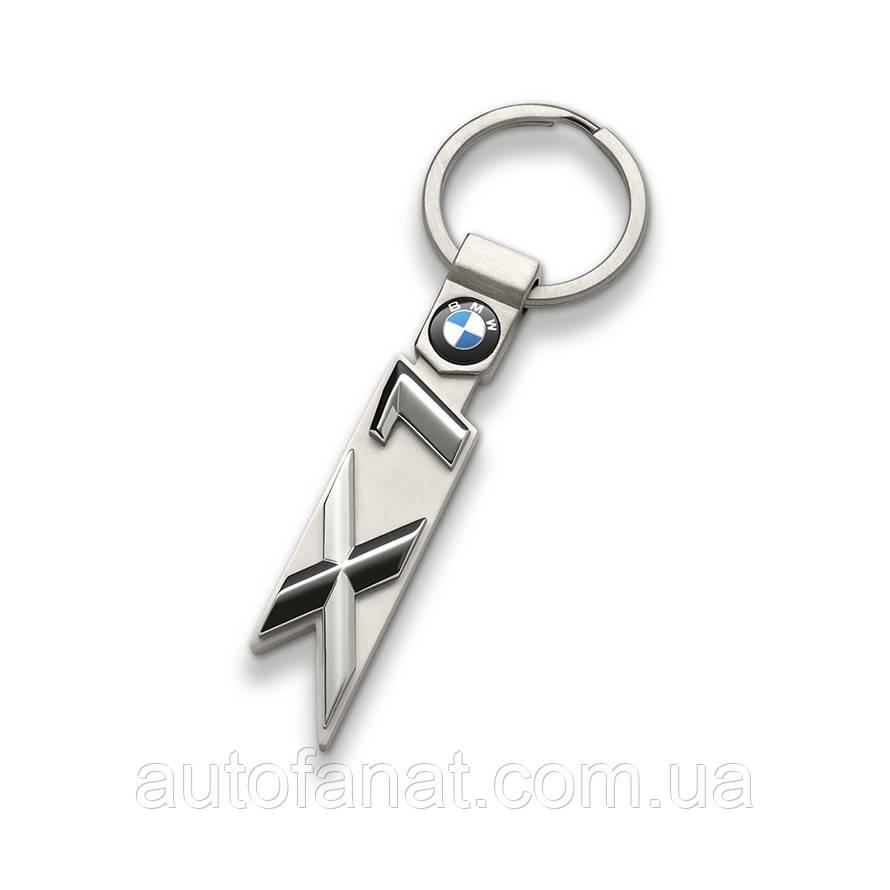 Брелок BMW X1 Key Ring Silver, оригинал (80272454656)