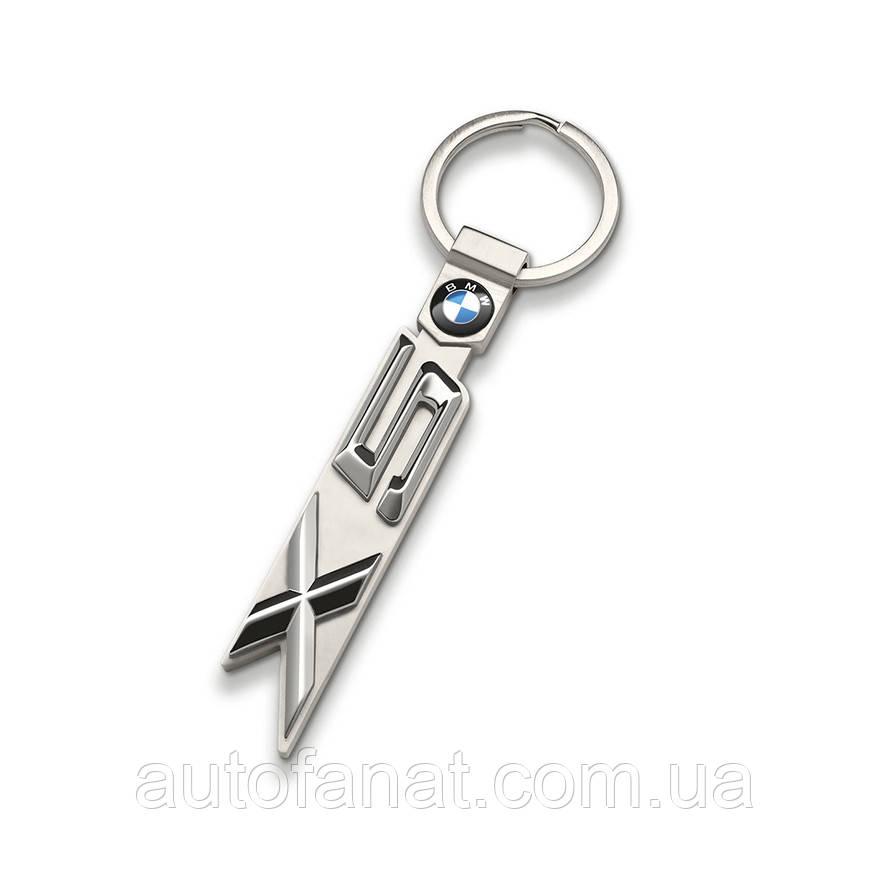 Оригинальный брелок BMW X5 Key Ring, Silver (80272454660)