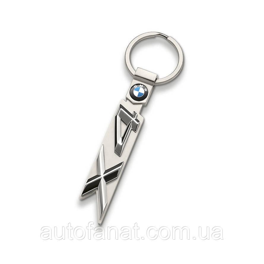 Оригинальный брелок BMW X4 Key Ring, Silver (80272454659)