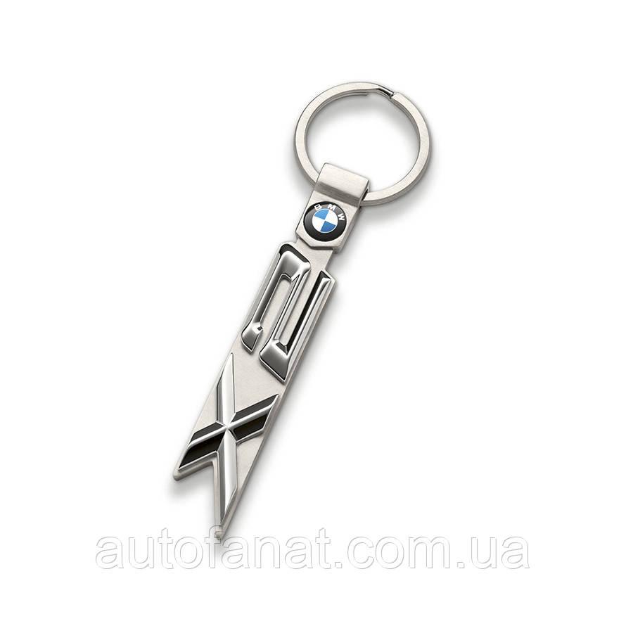 Оригинальный брелок BMW X2 Key Ring, Silver (80272454657)
