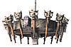 """Бра из дерева  """"Факел Римский"""" 1/2 факела на 4 лампы состаренное темное, фото 3"""