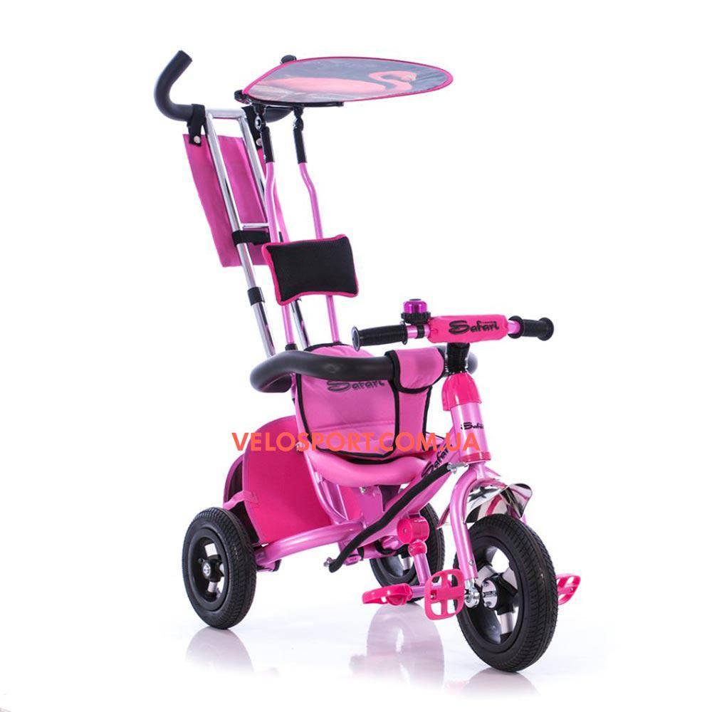 Детский трехколесный велосипед Azimut Safari Air розовый