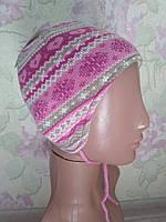 Яркая шапочка утеплена флисом 53 размер C&A Германия, фото 1