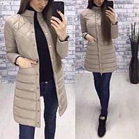 Осеняя женская куртка удлиненная синтепон 200