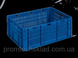 Ящик пластиковий 600*400*260 кольоровий/повт.