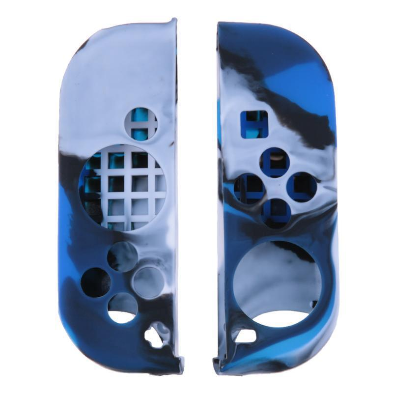 Силиконовый чехол Game Teh X  для джойстика Nintendo Switch (камуфляж-синий