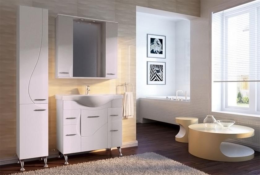 Дизайн ванной комнаты. Серия Франческа. Мебель Ювента
