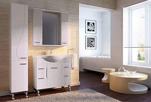 Пенал для ванной комнаты Франческа ФШП1Lк-белый Корзина левый Ювента, фото 2