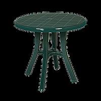 Стол круглый Irak Plastik Royal 80 см зеленый