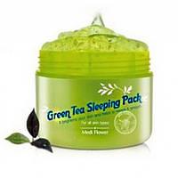 Ночная маска с увлажняющими капсулами зеленого чая MEDI FLOWER Green Tea Sleeping pack
