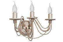 "Люстра кованая  ""Косички""  старая медь на 3 лампы, фото 2"