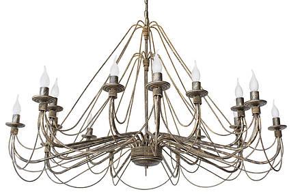 """Люстра кованая  """"Косички""""  старая бронза на 18 ламп, фото 2"""