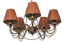 """Люстра кованая  """"Косички"""" бежевая на 8 ламп , фото 3"""