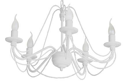 """Люстра кованая  """"Косички"""" на 5 ламп белая, фото 2"""