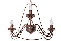 """Люстра кованая  """"Косички""""  старое серебро на 5 ламп, фото 2"""