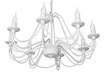 """Люстра кованая  """"Косички""""  старое серебро на 5 ламп, фото 3"""