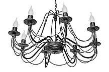 """Люстра кованая  """"Косички"""" бежевая  на 3 лампы, фото 2"""