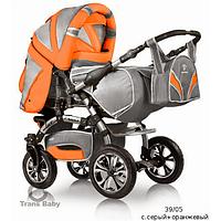 Коляска - трансформер Trans baby Prado lux с.серый+оранжевый