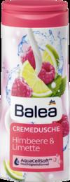 Гель для душа BALEA Dusche+Creme Himbeere & Limette