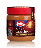 Арахисовое масло Felix (с кусочками орехов) 350 гр