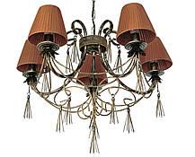 """Люстра кованая   """"Кисточки""""  бежевая на 18 ламп, фото 3"""
