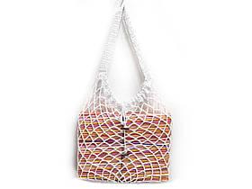 Вязаная крючком сумка - Белая большая сумка - Сумка на плечо