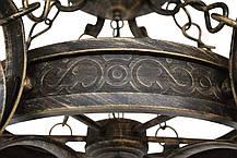 """Люстра кованая  """"Бисмарк""""  бежевая с золотом на 6 ламп, фото 3"""