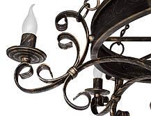 "Люстра кованая  ""Бисмарк"" белая с золотом на 6 ламп, фото 3"