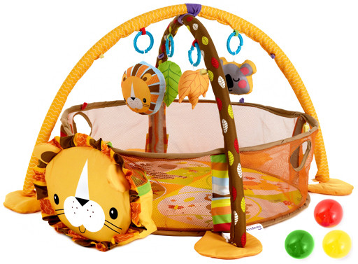 Детский развивающий коврик лев